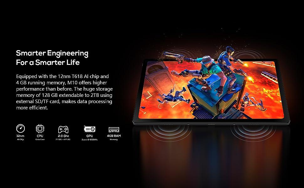KingPad series tablet M 10 128G storage 4GB RAM