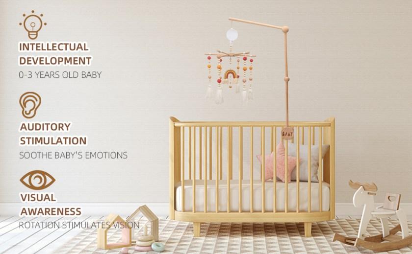 JETM·HH Baby Crib Mobile Arm