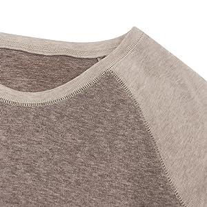 Round Neck and Exposed Stitching