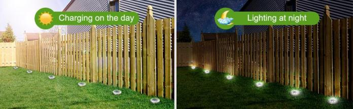 8 Led Solar Garden Lights Outdoor