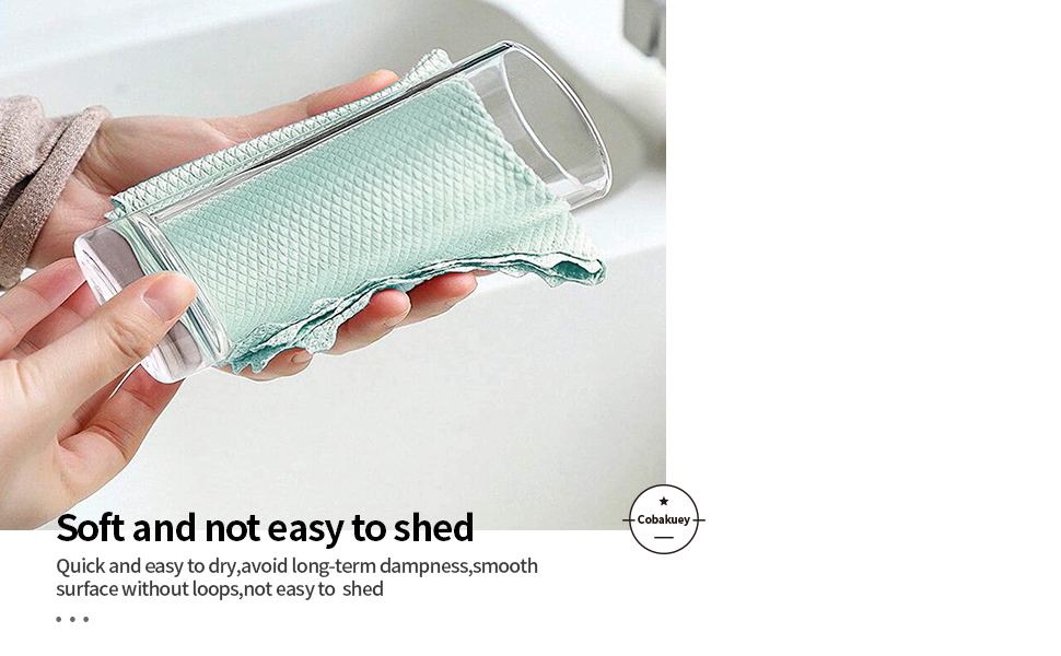2.Fish Scale Microfiber Cleaning Cloth