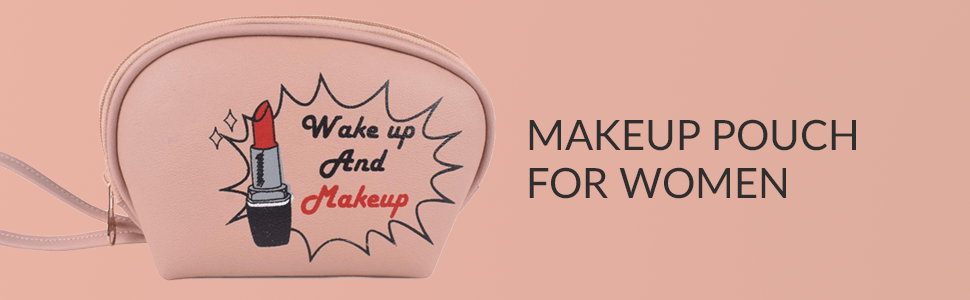 Makeup Pouch for Women Stylish | Makeup Bag Accessories Travel Cosmetic Bags
