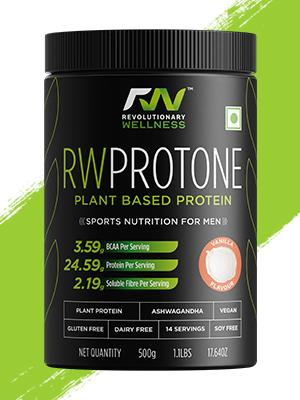 RW Protone 500gms Vanilla Plant Protein Nutrition Supplement for Men