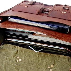 leather briefcase bag montexoo