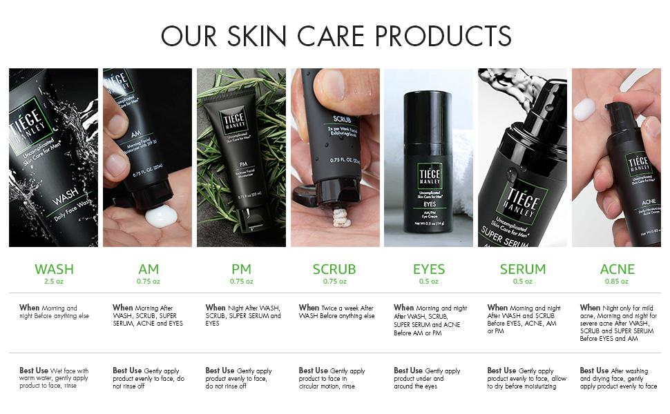 Tiege Hanley Skin Care system 6 products