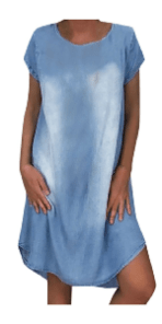 Womens Loose Denim T-shirt Dress