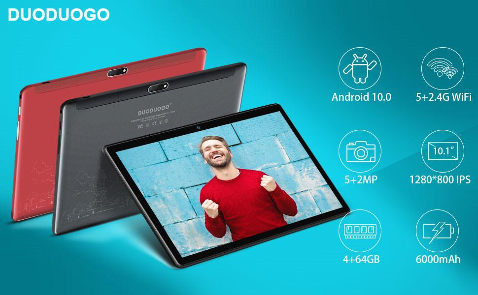 DUODUOGO Tablet in offerta Android 10