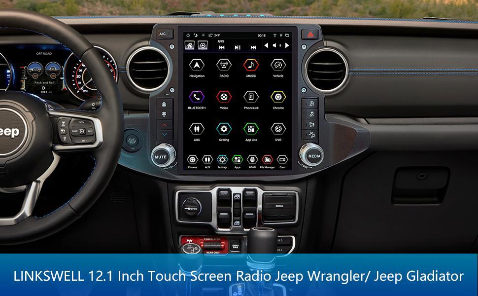 12.1 Inch touch screen radio Jeep JL/Gladiator