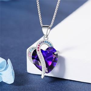 Heart Pendant Necklace for Women Anniversary Mothers Day Birthday Gifts Ideas for Women