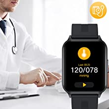 smart watch with blood pressure monitor
