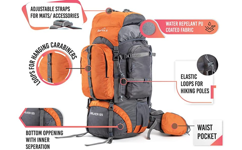 tripole walker rucksack with features