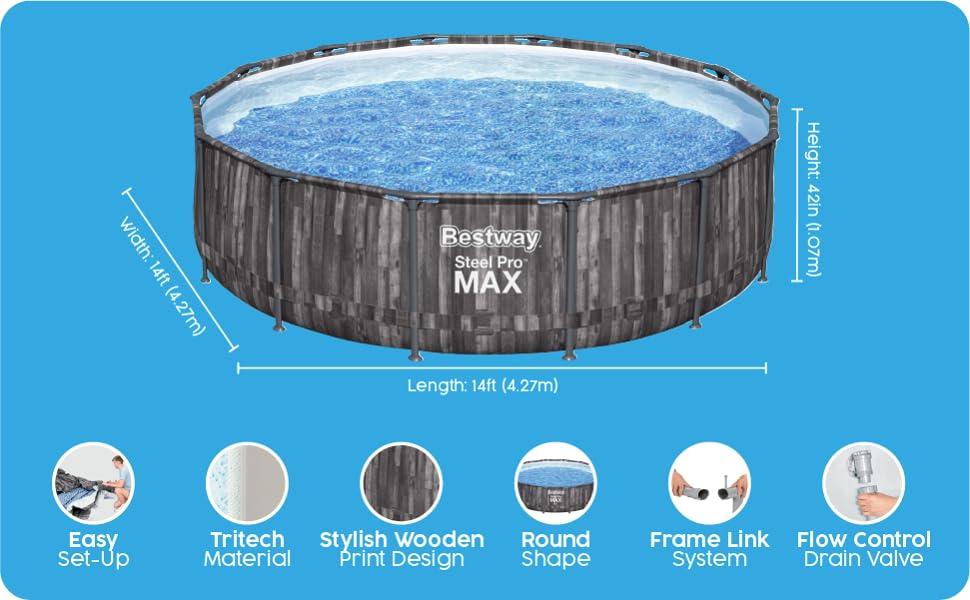 Pool, bestway pool, swimming pool, large pool, family pool, garden pool,
