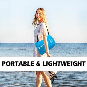 lightweight beach lounger