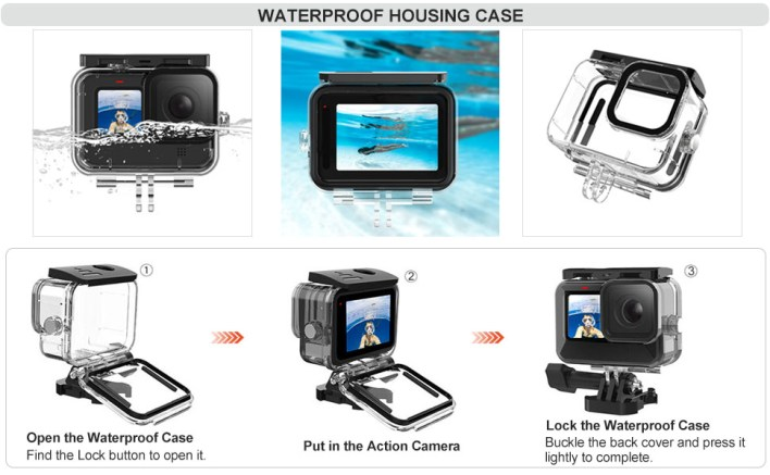 gopro hero 9 waterproof case