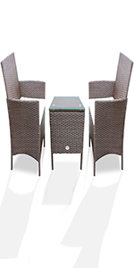 Upgrade your outdoor space with the PAOLFOX Patio Wicker Set !