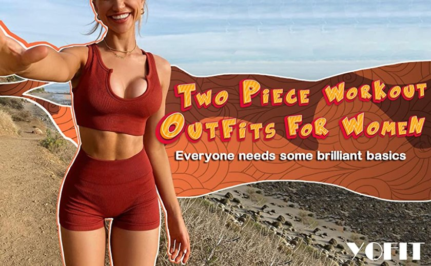 Two piece workout outfits for women