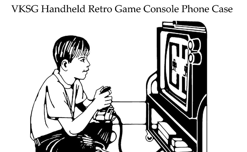 VKSG Handheld Retro Game Console Phone Case