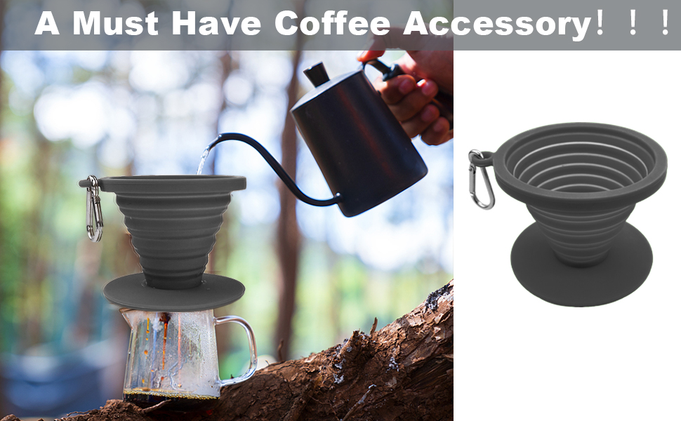 Silicone Pour Over Coffee Maker,Camping Coffee Makers