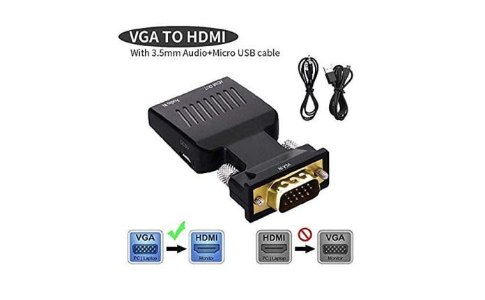 vga to hdmi converter adapter, hd video converter