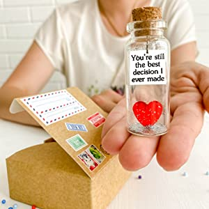 Heart and Message in a Bottle Love Present