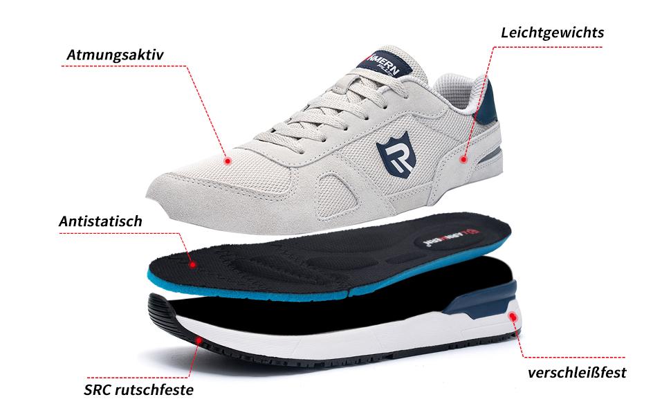 Straßenlaufschuhe Sneaker Joggingschuhe Walkingschuhe Traillauf Antistatisch Schuhe