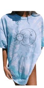 Sun and Moon Graphic Tee Shirts