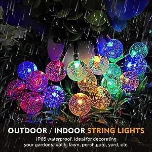 outdoor waterproof solar string lights