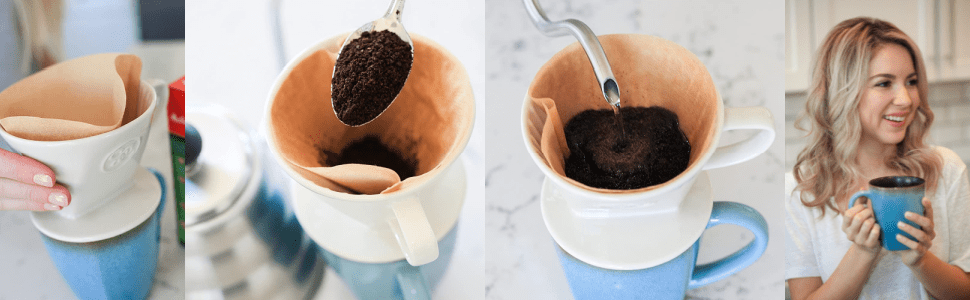 Pour over drip coffee maker by simply charmed
