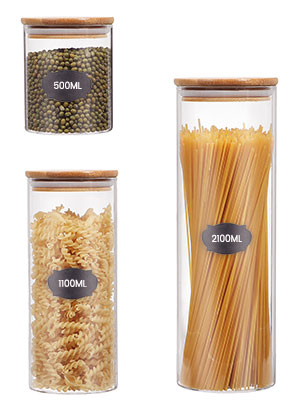 glass canister for kitchen counter