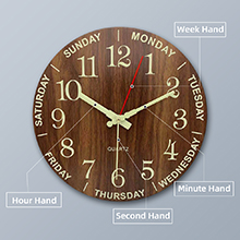 Luminous Silent Wall Clock Vintage