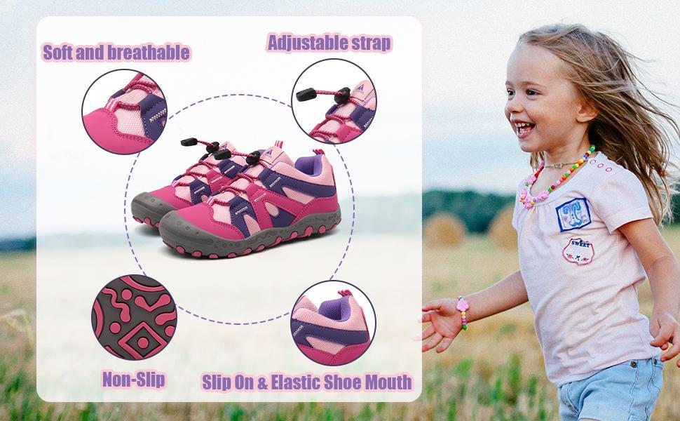boy girl hiking shoes
