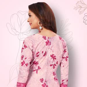 Miraan women's cotton unstitched dress material (BRAND1831, Pink, free size) SPN-FOR1