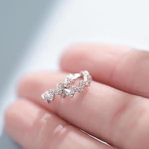 Sterling Silver Cuff Earrings Cartilage Earrings