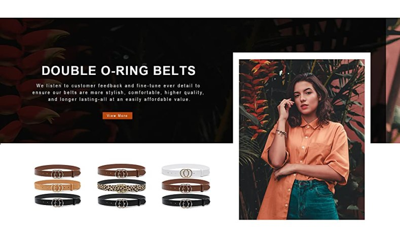 Double O-ring Belts for Jeans