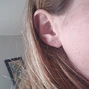Stainless Steel Dot Studs Earrings