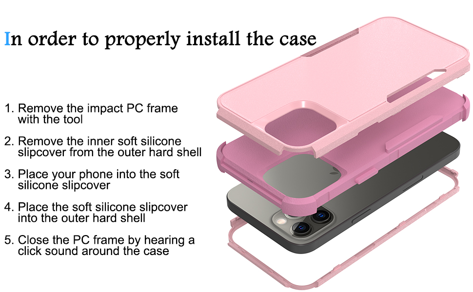 How to install the case