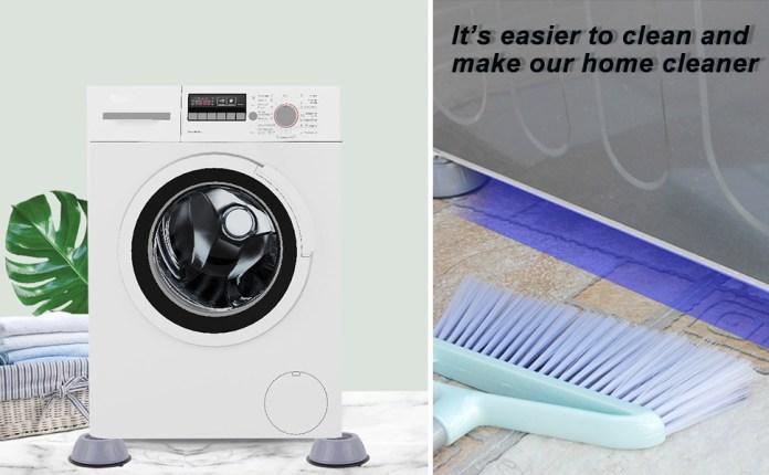 Multifunctional washing machine foot pad