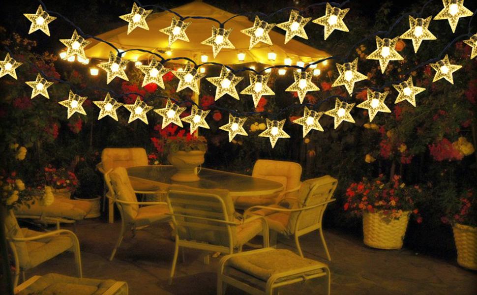 solar star lights outdoor