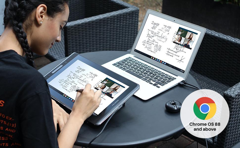 Huion Kamvas Pro 13 chromebook için pc grafik çizim tableti için ekranlı çizim tableti