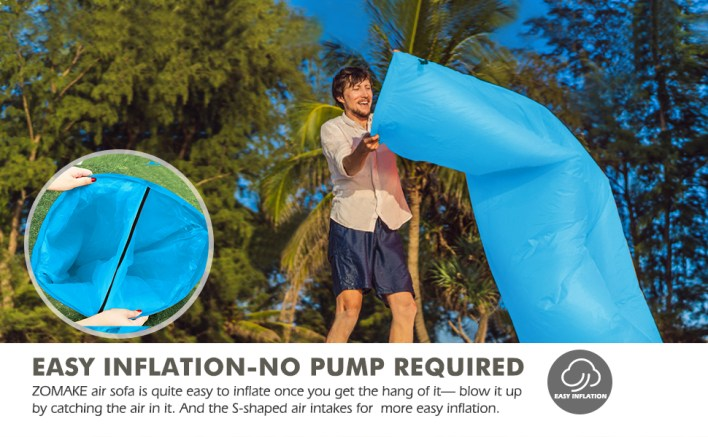 inflatable couch- no pump required