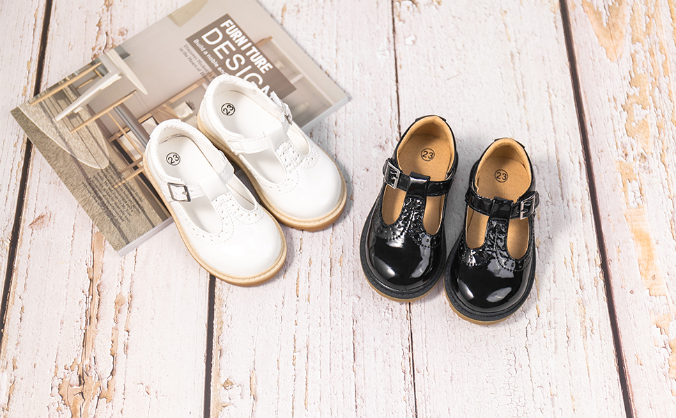 Girls Flat Dress Shoes School Oxfords Marry Jane (Toddler/Little Kids)