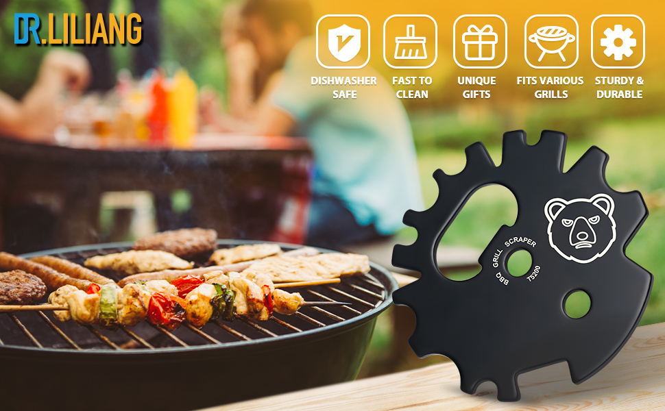 DR.LILIANG BBQ Grill Scraper Cleaner Tool Mens Christmas Stocking Stuffers Gifts for Men Women