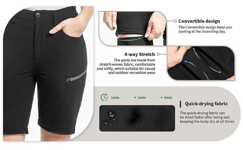 zip off hiking pants women