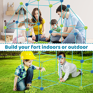 building toys set can be built indoors and outdoors