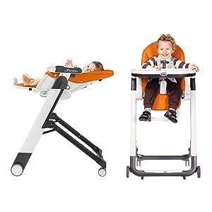 reclinável, infantil, criança, cadeira alta, multiuso, ajuste de altura, rodas, dobra compacta