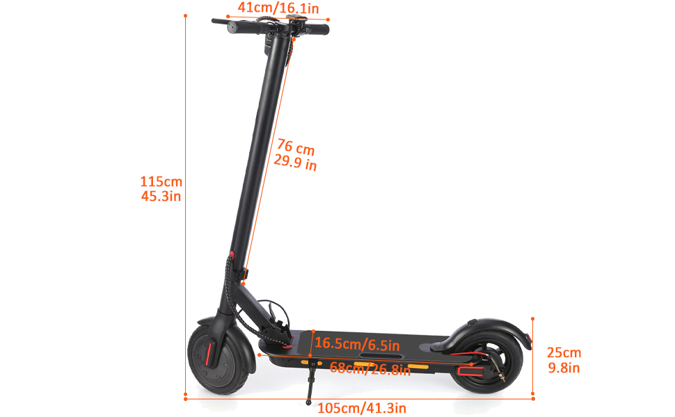 Electric Scooter Size