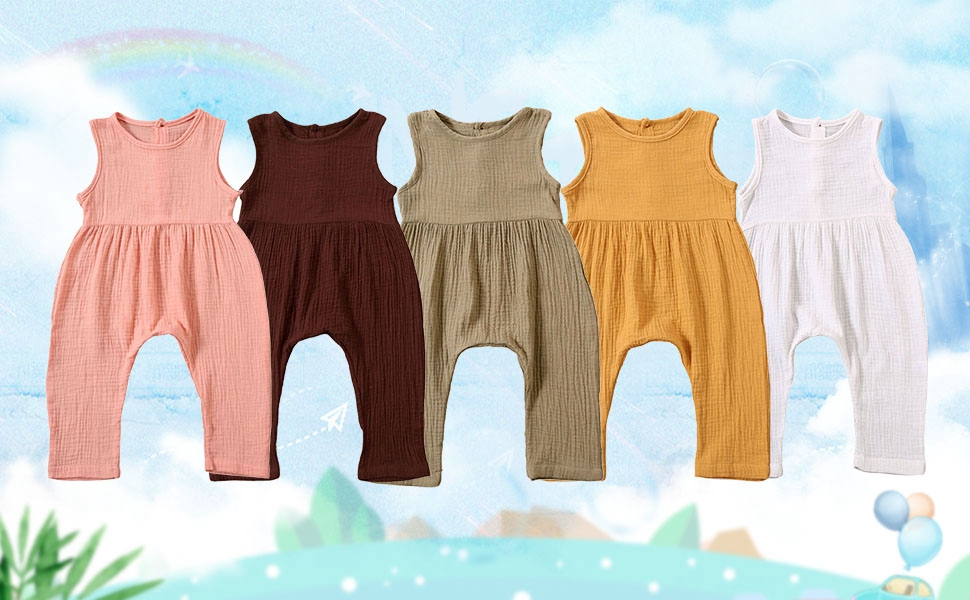 baby girl boy rompers jumpsuits sleeveless summer clothes cothing sets jumpsuits jumper