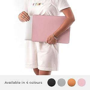 Italian Leather Laptop Sleeve - Fits Any MacBook Device 2010-2020 - Ultra-Sleek Wool Padded Leather