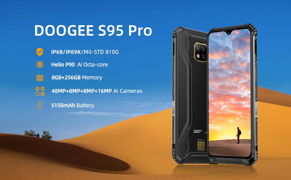 Rugged Unlocked Smartphone DOOGEE S95