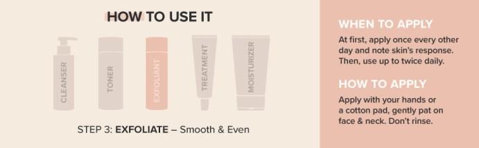 Exfoliate with 2% BHA salicylic acid to minimize pores, reduce blackheads and smooth skin.
